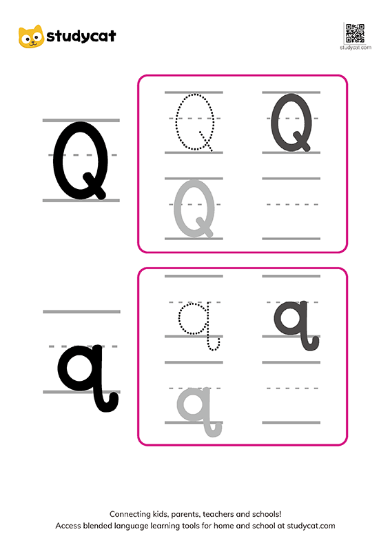 Letter Qq Writing Worksheets