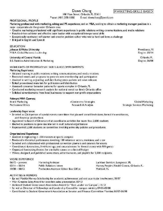 mba resumes examples resume samples from the right resume note