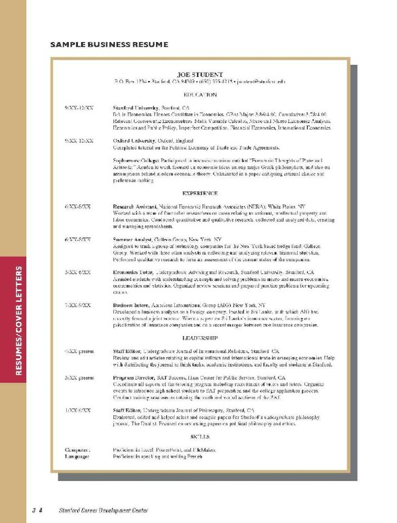 Reference Page Format Examples