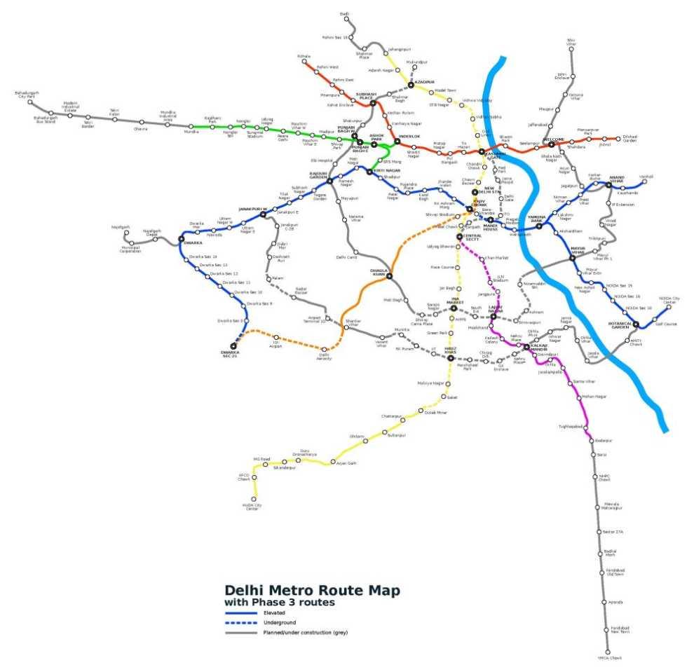 Metro Map Delhi Pdf | Unixpaint
