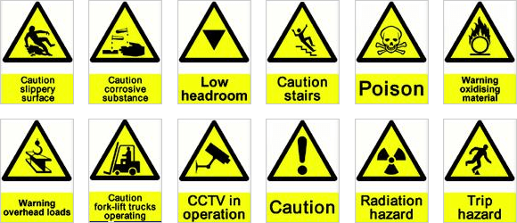 Science Hazard Symbols And Their Meanings