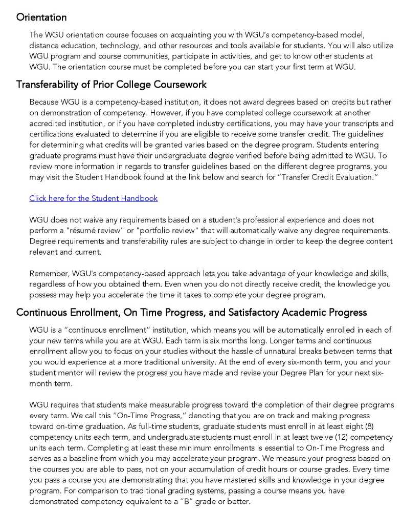 Western Governors University Transcripts