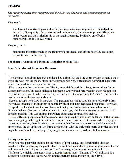 sample - Toefl Essay Example