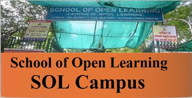 School of Open Learning SOL