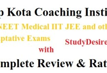 Kota Coaching Institute for NEET Medical IIT JEE, Best Classes Fees
