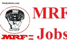 MRF Recruitment 2019