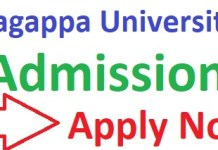 Alagappa University Admission 2019