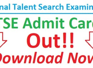 NTSE Admit Card 2018