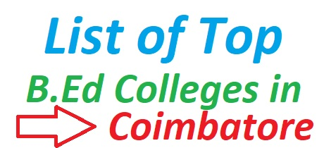 B.Ed Colleges in Coimbatore 2019