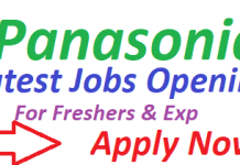 Panasonic Jobs 2019