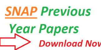 SNAP Previous Year Papers