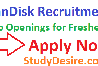 SanDisk Recruitment 2019