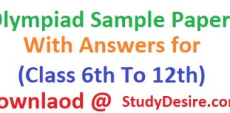Get all info of Olympiad Sample Papers 2019-20 With Answers for (Class 6th To 12th) know all about Olympiad previous year sample Papers here