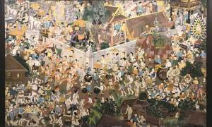 Thai painting of many people