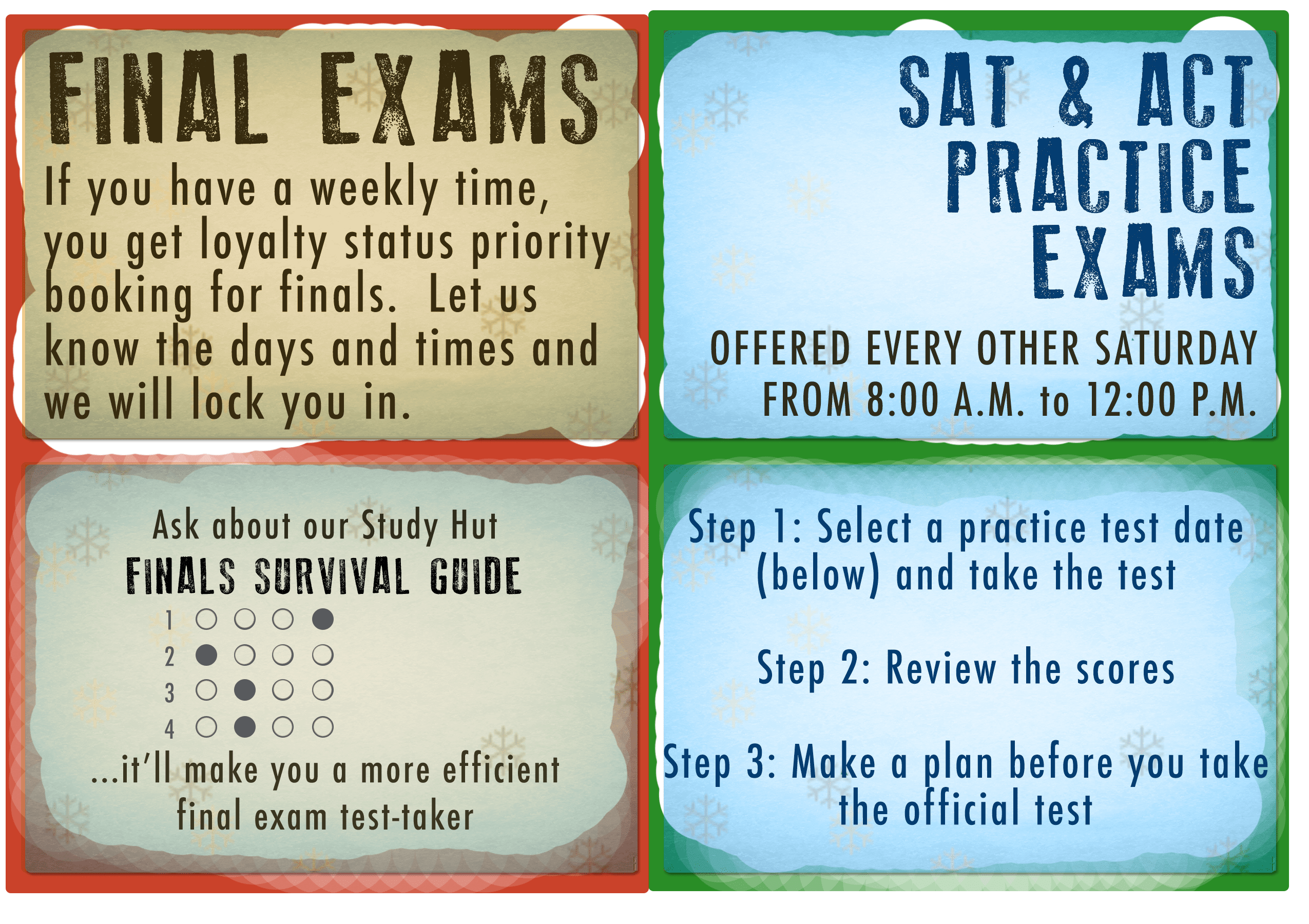Finals And Test Prep
