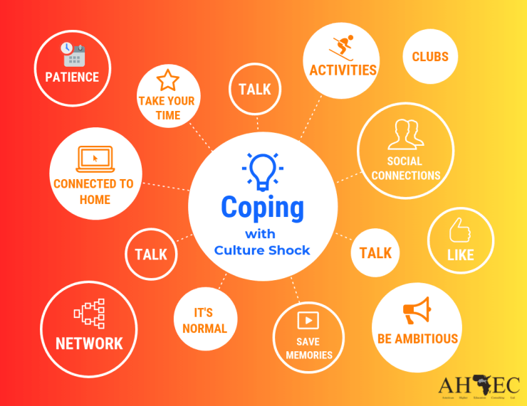 What coping with culture shock involves.