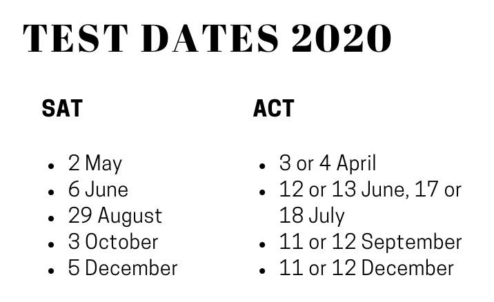 SAT Dates in Kenya.