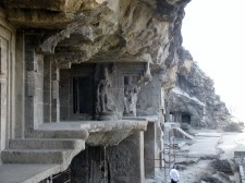 Entrance to one of the Buddhist Caves