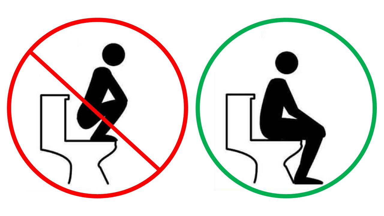 Squatting vs sitting