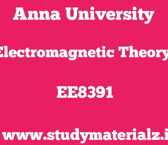 EE8391 Electromagnetic Theory