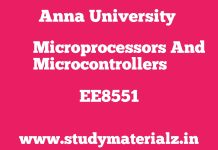 EE8551 Microprocessors and Microcontrollers
