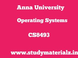 CS8493 Operating Systems