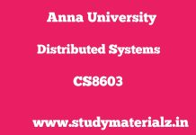 CS8603 Distributed Systems