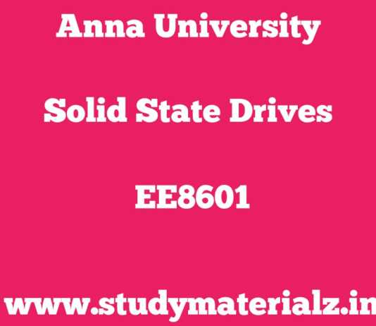 EE8601 Solid State Drives