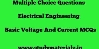 Basic Voltage and Current MCQs
