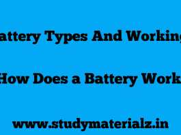 Battery Working Principle And Its Types