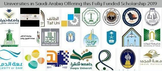 Universities in Saudi Arabia Offering this Fully Funded Scholarship 2019