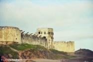 Cape Coast Castle as seen from the beach. Copyright Cornelia Kaufmann