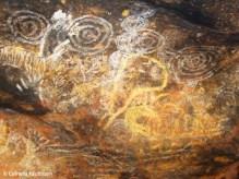 Aboriginal artwork in one of the caves. Copyright Cornelia Kaufmann