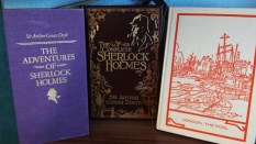 Part of my Sherlock Collection. The Adventures of Sherlock Holmes, The Complete Sherlock Holmes and a German version with 16 short stories.