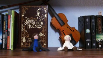 Leather-bound versio of The Complete Sherlock Holmes.