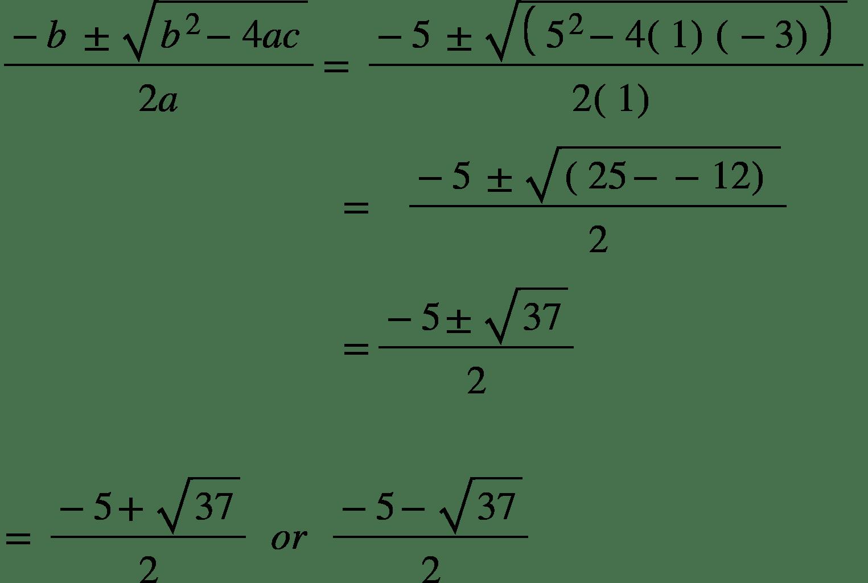 Solving Quadratic Equations Gcse Mathematics Edexcel