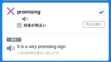 【TOEIC英単語】本日のTOEIC対策英単語を振り返る。「promising」とは?