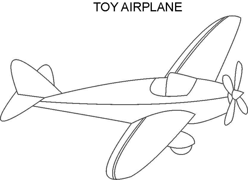 toy plane colouring pages