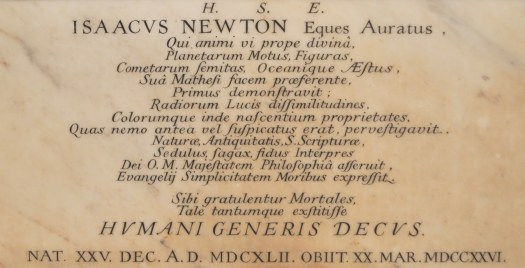 newton epitaph westminster abbey