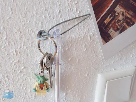 Schlüssel am Magnetseilsystem