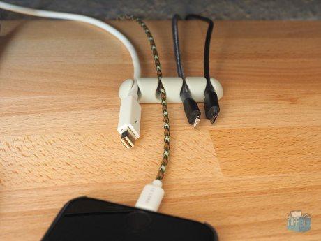 Kabelorganizer für den Schreibtisch