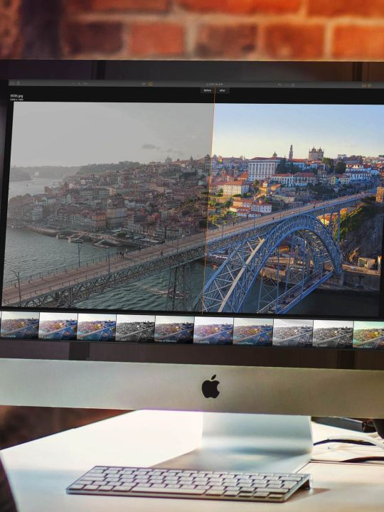 Luminar am Apple iMac