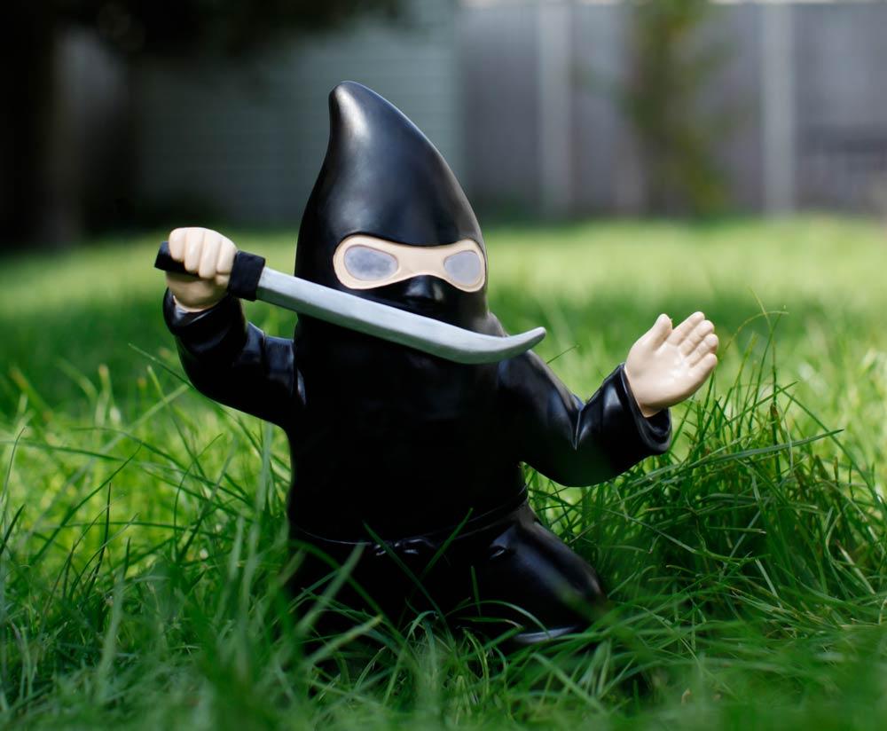 Ninja Gartenzwerg