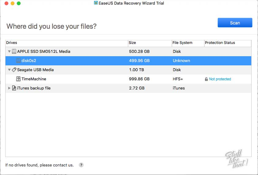EaseUS Data Recovery Wizard Start