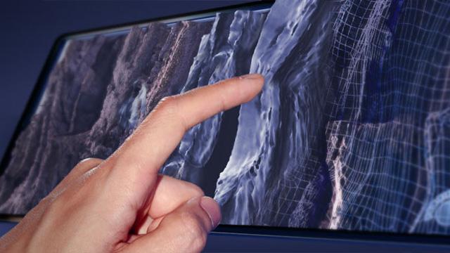 textured touchscreen
