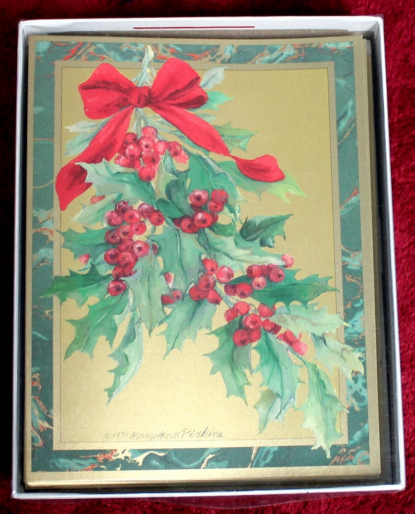 20 Caspari Christmas And Holiday Cards Brand New Sealed