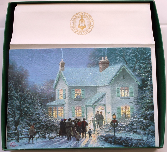 Hallmark Box Of 18 Thomas Kinkade Evening Carolers
