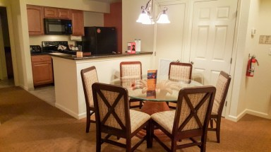 Dining room and kitchen of two bedroom suite
