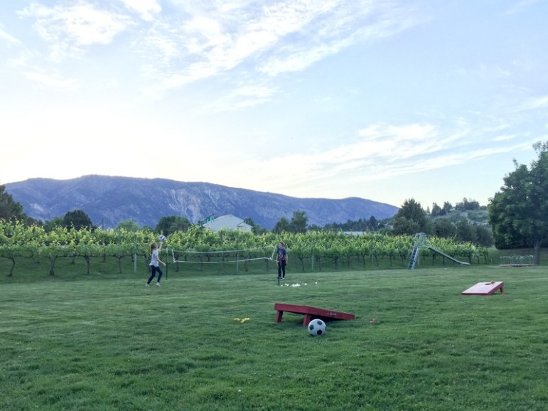 Outdoor play area at Wapato Point Cellars is great for families!