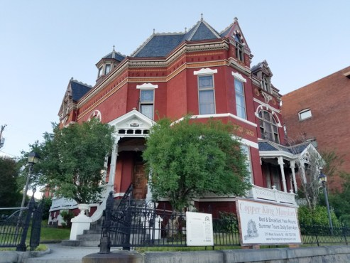 Beautiful exterior of the Copper King Mansion in Butte, MT